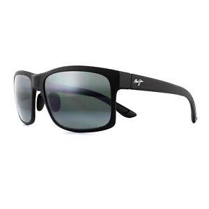 f1672c2f55 Maui Jim Sunglasses Pokowai Arch 439-2M Matte Black Neutral Grey ...