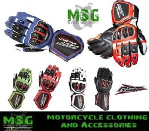 RST-Tractech-Evo-2579-Leather-Race-Sports-Lined-Motorcycle-Motorbike-Gloves-New