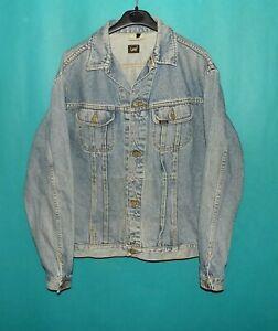 veste en jean LEE ryder vintage année 80/90 en coton bleu délavé taille L