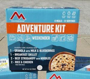 Mountain House Weekender Adventure Kit MRE 6 Boxes 12 Days 72 Servings FreeShip