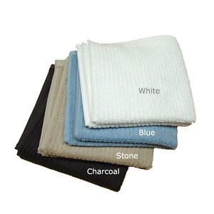 10-Egyptian-Cotton-Face-Washers-Salon-Towels-Blue-Stone-White-Charcoal-550GSM