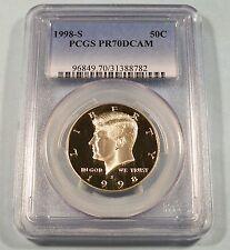 1998-S Silver Kennedy Half PR70DCAM PCGS Proof 70 Deep Cameo