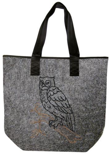 Filztasche Eulen Shopper Tasche hochwertige Einstickung Eule 261XX