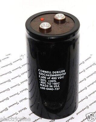 1pcs Cornell Dubilier DCMCE1669 5600uF 400V Screw Terminal Capacitor