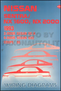 1993    Nissan       Sentra    and    NX    Wiring    Diagram    Manual Original Electrical Schematics   eBay