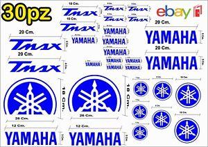 MAXI-KIT-30-PZ-DI-ADESIVI-YAMAHA-OLD-TMAX-T-MAX-500-530-COLORE-BLU