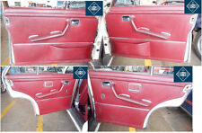 71 Mercedes 280S W108 RED Door Trim Panel COMPLETE SET LEFT RIGHT FRONT SWB