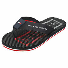 Tommy Hilfiger Massage Footbed Mens Desert Sky Textile /& Synthetic Beach Sandals