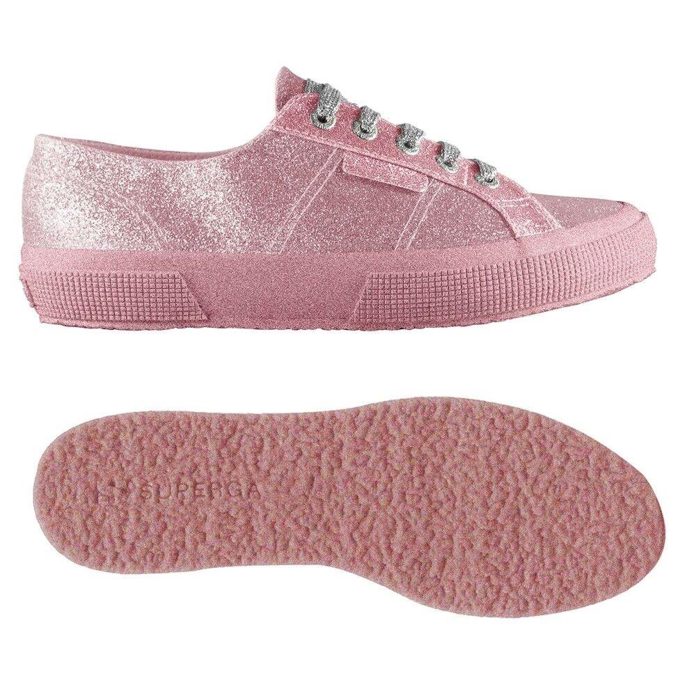 Superga MACRAME MICROGLITTER Pink 2750-918 pink mod. 2750-918