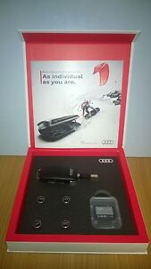 Genuine Audi Gift Set includes USB Memory Key, 16GB SD Card and Tyre Valve Caps