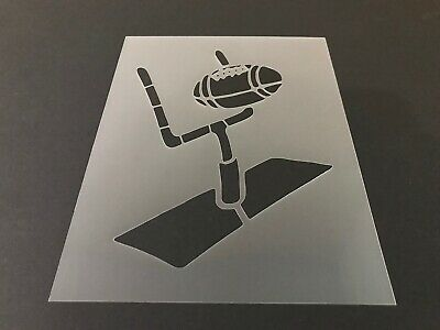 Goal Post Crafts NFL Helmet Football #6 Stencil 10mm or 7mm Thick Sports