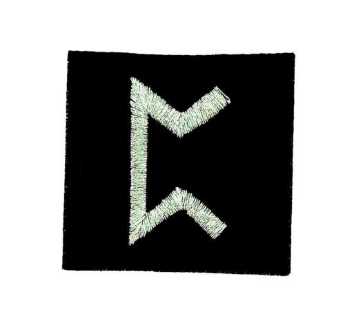 Patch ecusson brode thermocollant viking odin sorcellerie rune alphabet game