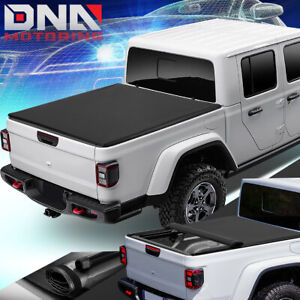 For 2020 Jeep Gladiator Jt Pickup Truck Bed Soft Top Vinyl Roll Up Tonneau Cover Ebay