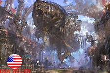 """Landscape Scenery Concept Art 36"""" x 24"""" Large Wall Poster Print Anime #109"""
