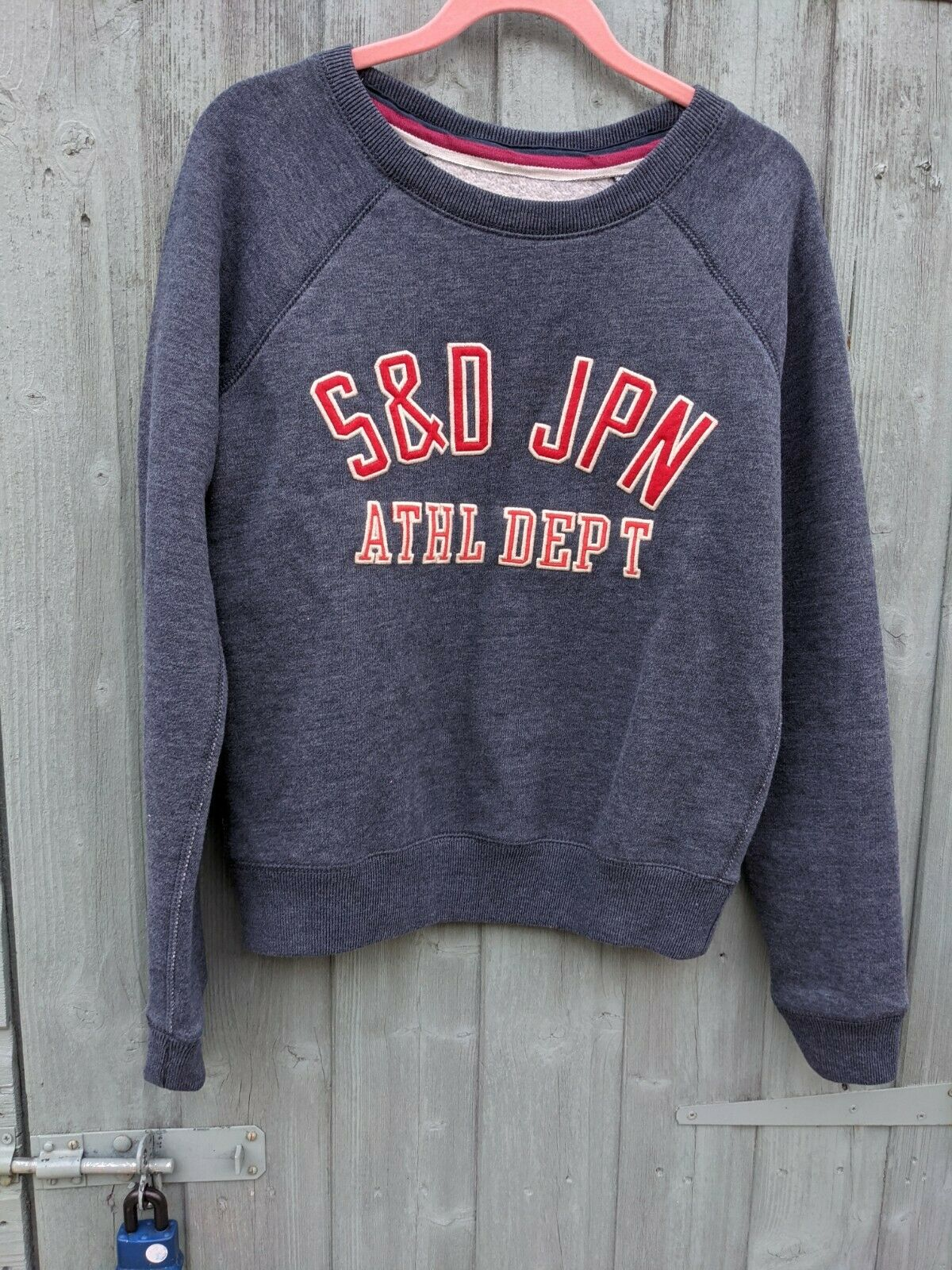 Superdry Womens dusky blue Pullover Sweatshirt Size Medium
