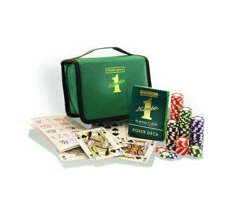 Voyage Poker Set Waddingtons numéro 1 des fêtes jeux de cartes fun UK Vendeur Neuf
