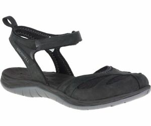 Merrell-Siren-Wrap-Q2-Sandal-Women-039-s-Black-J37480
