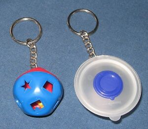 Vintage Tupperware Key-chains - Shape Sorter & Measure Pitcher