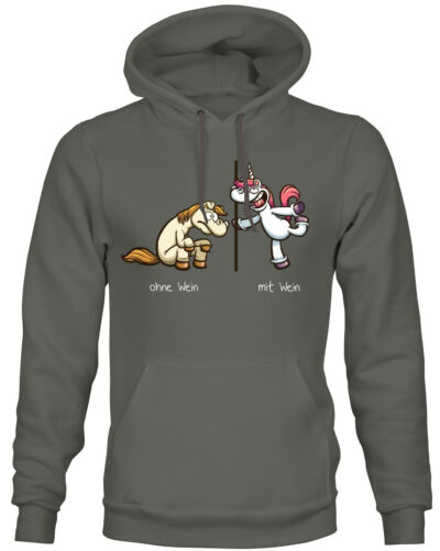 Sweat-shirt licorne-sans vin avec du vin Cheval Unicorn Drôle Hoodie siviwonder