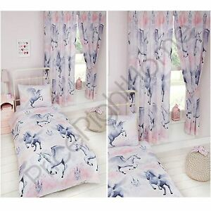 Image Is Loading Stardust Unicorn Duvet Cover Sets Amp Matching Curtains