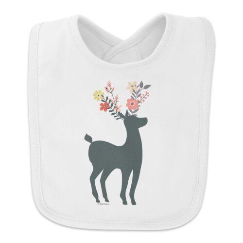 Deer and Flowers Baby Bib