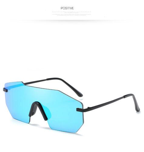 Fashion Retro Vintage Womens Mens One Piece Sunglasses UV400 Mirrored Eyewear