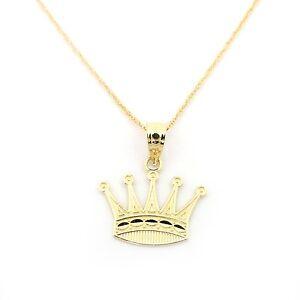 14k Yellow Gold Crown Pendant
