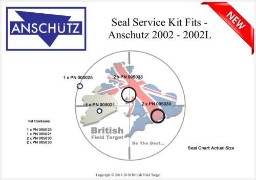 2025 Models 2020 Premium Seal Service kit Fits ANSCHUTZ 2002 2002L 2002D.RT