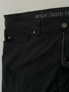 prAna-34-x-36-Brion-Black-Breathe-Stretch-Nylon-Outdoor-Casual-5-Pocket-Pants