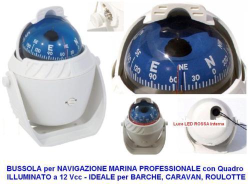 Kompass weiß MARINA NAUTICA mit Licht Halterung und Halterung Licht H.12 semi-professionell ce009d