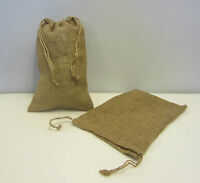 2 Burlap Bags 8 X 12 With Drawstring Sack Gunny Feed Bag Tow Sack Gift