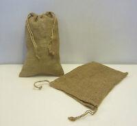 2 Burlap Bags 8 X 12 With Drawstring Sack Gunny Feed Bag Tow Sack Gift