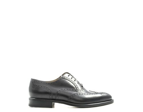 Cuir Moreschi Lacets Chaussures 201006 Noir Brogue Homme Naturel wZxgpgRaq