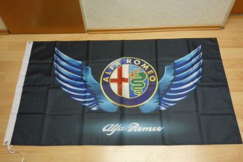 90 x 150 cm Fahne Flagge Alfa Romeo Flügel