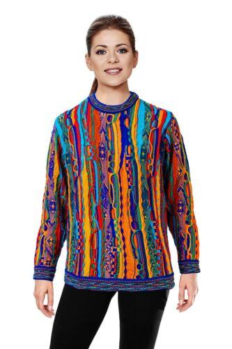 Geccu 3D Multi Colour Merino Wool Sweater Knitwear Jumper Coogi Look