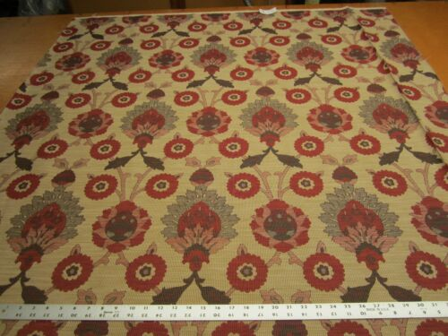 1 1/8 yards of Adrian Red Fabric upholstery fabric r1548