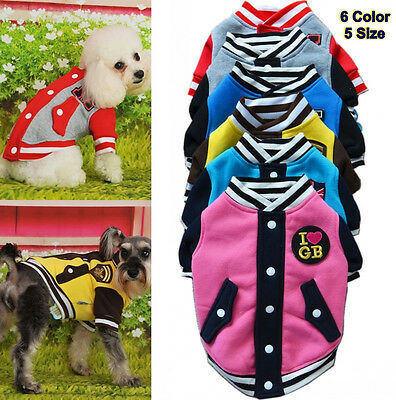 Clothing for Dogs Dog Pet Puppy Clothes Pet Apparel Baseball Uniform XS S M L XL