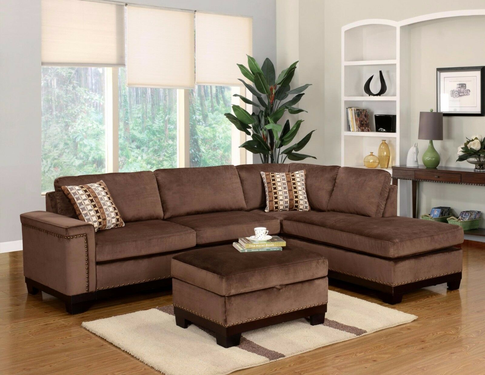 Picture of: Brown Chenille Fabric Reclining Sectional Sofa U3118c Br Sec Global Usa For Sale Online Ebay