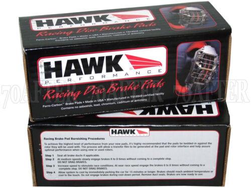 Hawk Race HP Plus Brake Pads for 05-13 Chevy C6 Corvette//Z51 Front /& Rear Set