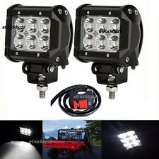 2x18W Cree 6 LED Light Bright Flood Lamp with switch for TVS Apache RTR 160