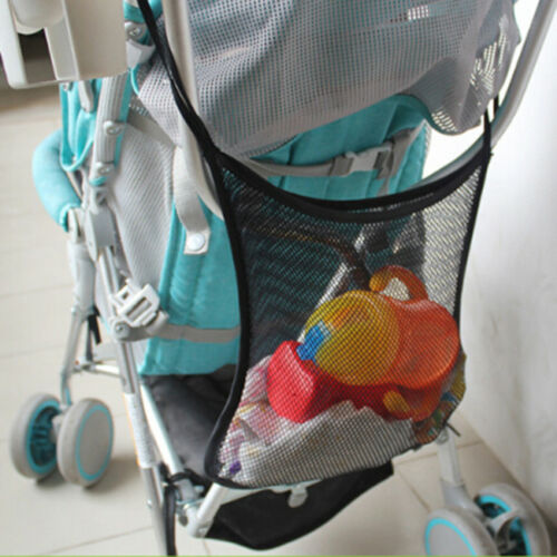 Outdoor Storage Pushchair Baby Stroller Mesh Holder Organizer Hanging Bag N7