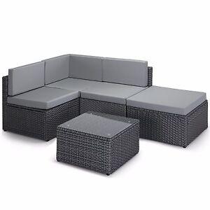 vonhaus rattan corner sofa modular set wicker weave