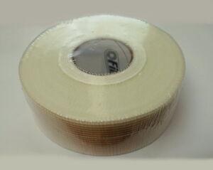 90-METER-48mm-Fugenband-Gitterband-Gewebeband-selbstklebend-Glasfaser