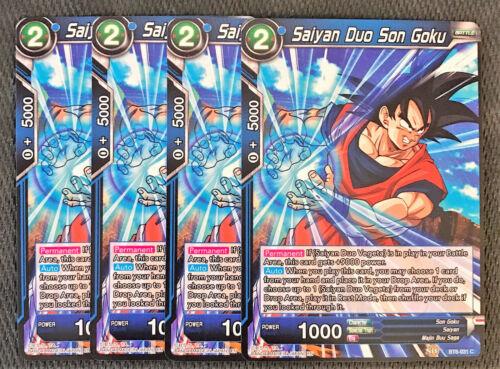 4x Saiyan Duo Son Goku BT6-031 C Dragon Ball Super TCG Near Mint