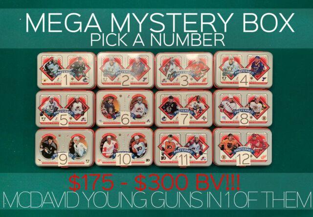 MEGA MYSTERY HOCKEY BOX -$175-$300 BV- AUTOS, JERSEYS, YG & MORE MCDAVID YG IN 1