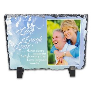 Personalised-Live-Laugh-Love-Rock-Slate-Photo-Frame-Rectangle