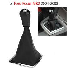Leather original ICT gear shift knob LED gaiter boot Ford Focus MK2 II frame A24