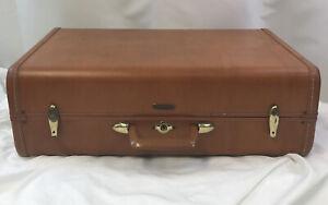Vintage-Shwayder-Bros-Samsonite-Hard-Shell-Suitcase-Style-4621-Brown