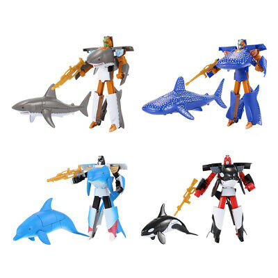 5 Pack Transformer Animal Figures Toys Model Robots Educational Toy for Kids