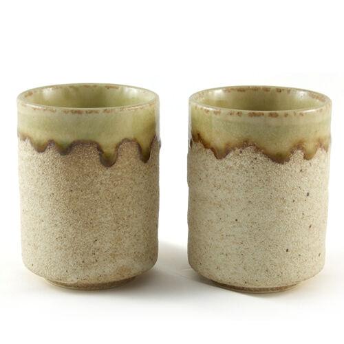 Tea Coffee Cup Pair Gift Mug ceramic beer Japanese Stoneware Bowl Sand Glazed